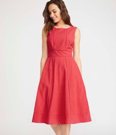 Broderie Fit and Flare Dress, Laura Ashley, £95