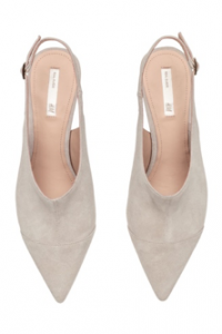 Light Grey Suede Sling-backs, H&M, £39.99
