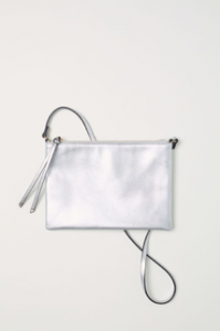 Silver Coloured Small Shoulder Bag, H&M, £8.99