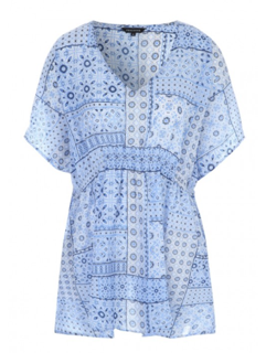 Blue Tile Print Kaftan from Peacocks