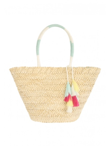 Tassel Straw Beach Bag from Peacocks