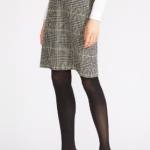 Checked Wool Skirt Lara Ashley