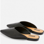 Black Pointed Mules Topshop