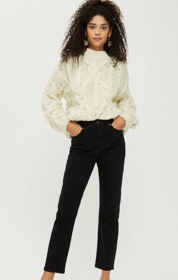 Black Straight Leg Jeans, Topshop, £40