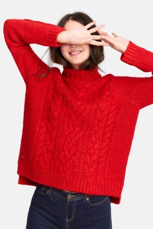 Joules Jessie Cable Knit Jumper, Next, £52