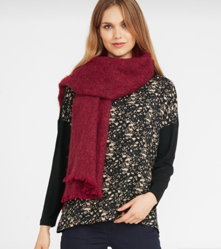Red Chunky Brushed Scarf, Laura Ashley, £30