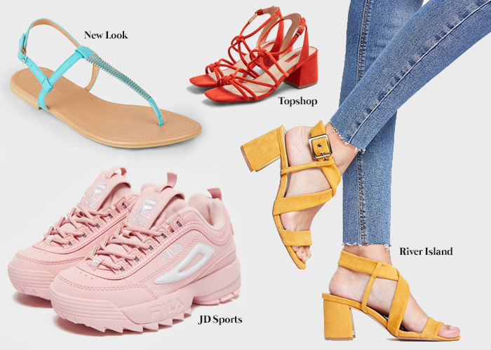 ed472b0f9a242 For stylish shoes to set the heart on fire New Look, H&M, River Island,  Topshop and Primark have your back with a variety of styles for any  occasion.